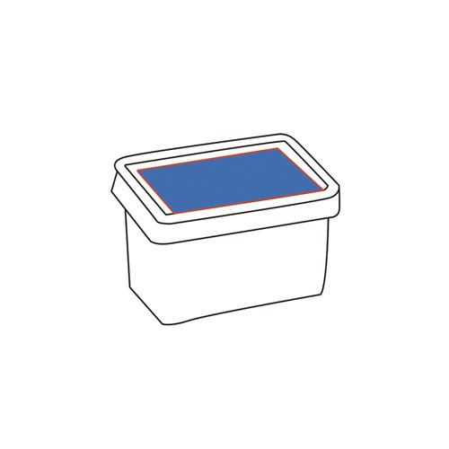 Planar self adhesive labeling